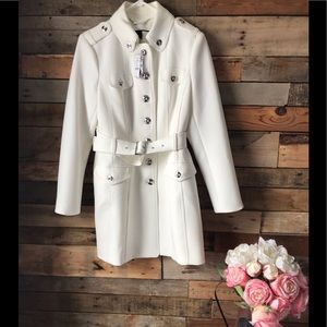 Off white Military Coat WHBM sz L